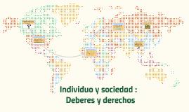 Individuo y sociedad :