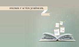 HECHOS Y ACTOS JURÍDICOS.