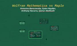 Wolfram Mathematica vs MATLAB
