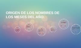 ORIGEN DE LOS NOMBRES