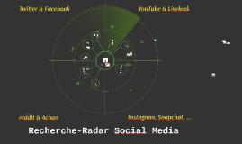 Recherche-Radar Social  Media
