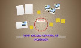 PLAN CALIDAD CONTROL DE INSPECCIÓN