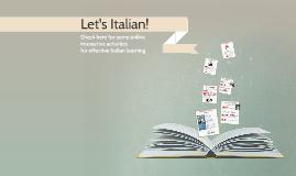 Let's learn Italian!