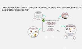"""""""PROPUESTA DIDÁCTICA PARA EL CONTROL DE LAS CONDUCTAS DISRUP"""