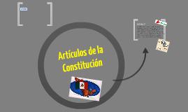 Articulos de la Constitución