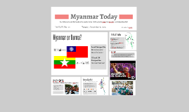 Myanmar: Then and Now