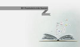 1. NIC 1: Presentación de estados financieros