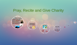 Copy of pray, recite and give charity
