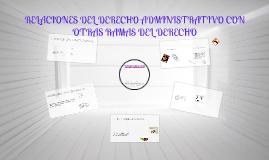 Relaciones del Derecho administrativo con otras ramas