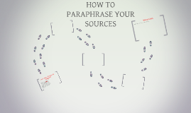 HOW TO PARAPHRASE YOUR SOURCES