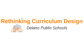 Rethinking Curriculum Design