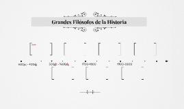 Grandes Filósofos de la Historia