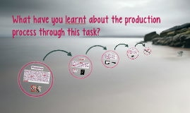 What have you learnt about the production process through th