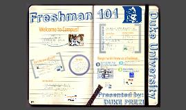 Duke Freshman 101