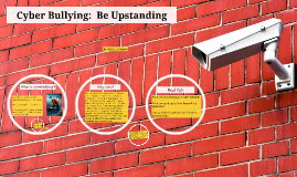 Copy of Cyber Bullying:  Be Upstanding