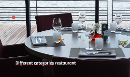 Diferent categories restaurant