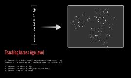 Teaching Across Age Level