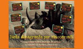 Dieta dimagrante per rinoceronti