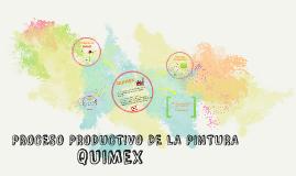 PROCESO PRODUCTIVO DE LA PINTURA