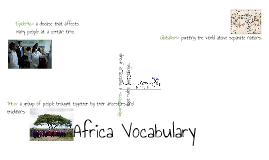 Africa Vocab