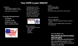Your VOTE is your VOICE!!