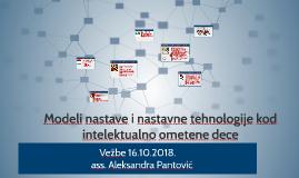 Modeli nastave i nastavne tehnologije kod intelektualno omet