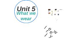 Unit 5 What we Wear