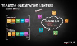 Training Orientation Leaders
