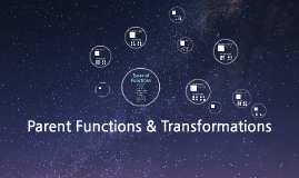 Project 1: Parent Functions & Transformations