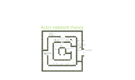 Actor - network theory