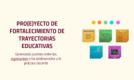 Proyecto de fortalecimiento de trayectorias educativas