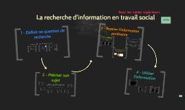 SVS 2e cycle - Parcours de la recherche d'information en travail social