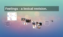 Feelings - a lexical revision