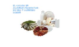 El calcio en algunos productos de uso y consumo comun