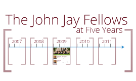 John Jay Institute - Five Years