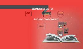 Copy of TIPOS DE CONOCIMIENTO