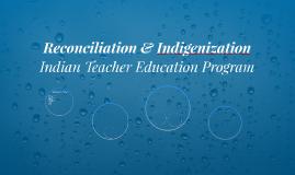 ITEP - Reconciliation & Indigenization