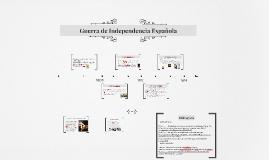 Copy of Guerra de Independencia Española
