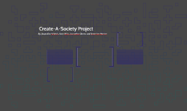 Create-A-Society Project