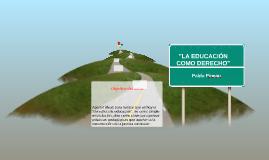 LA EDUCACIÓN COMO DERECHO