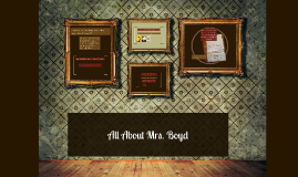 About Mrs. Boyd