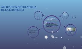 APLICACION ONDULATORIA DE LA LITOTRICIA