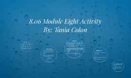 8.06 Module Eight Activity