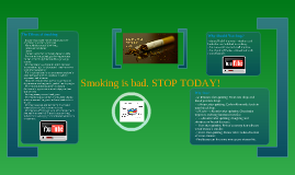 Smoking is bad. STOP!