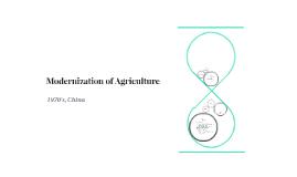 Agriculture Modernization