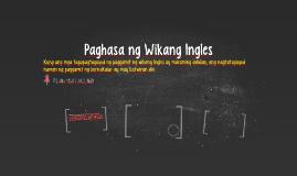 Paghasa ng Wikang Ingles