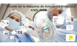 Maquina de anestesia.