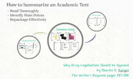 How to Summarize an Academic Text