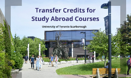 Transfer Credits for Study Abroad Courses