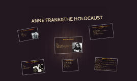 ANNE FRANK&THE HOLOCAUST